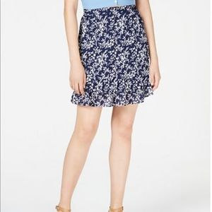 Maison Jules Ruffled Pull-On Skirt